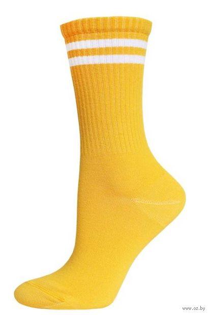"""Носки женские """"Полоски"""" (желтые) — фото, картинка"""