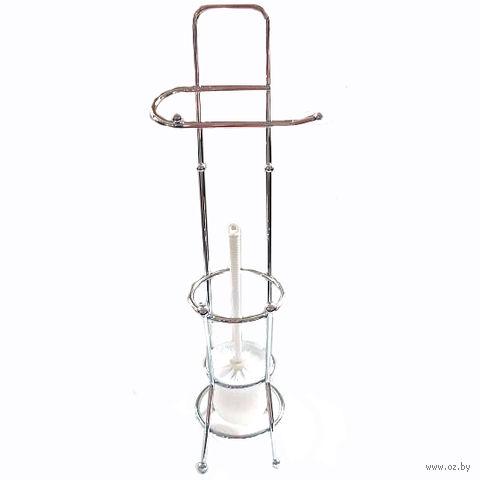 Щетка для WC в металлической подставке (65,5х10,7х10,7 см)