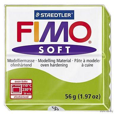 """Глина полимерная """"FIMO Soft"""" (светло-зеленый; 56 г) — фото, картинка"""