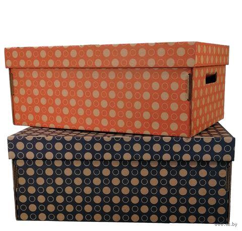 Набор коробок больших 2 шт. (красная и темно-синяя)