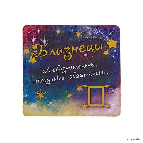 """Магнит пластмассовый """"Близнецы"""" (8,5х8,5 см)"""