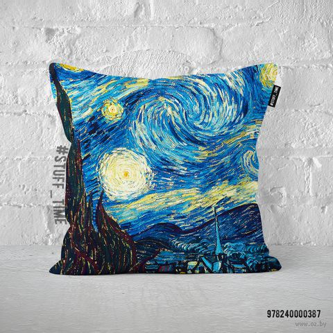 "Подушка ""Ван Гог. Звездная ночь"" (арт. 387) — фото, картинка"