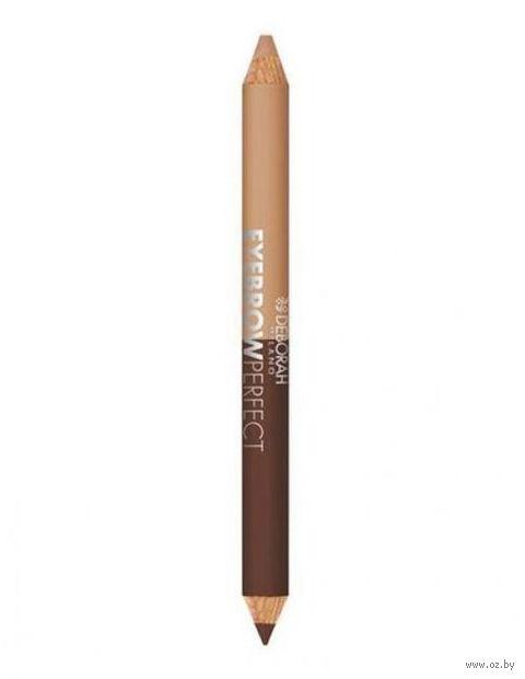 "Карандаш для бровей 2в1 ""DH Eyebrow Pencil"" (тон: 02) — фото, картинка"