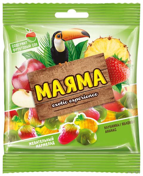 "Мармелад ""Маяма"" (70 г; ананас, яблоко и клубника) — фото, картинка"