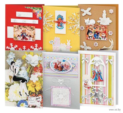 """Набор для изготовления открыток """"Снежинки"""" (6 шт.) — фото, картинка"""
