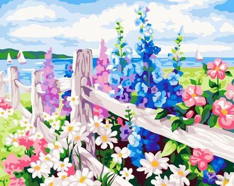 """Картина по номерам """"Цветочная изгородь"""" (300x400 мм; арт. ME050)"""