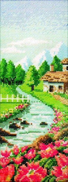 """Вышивка крестом """"Быстрая река"""" (100х260 мм) — фото, картинка"""
