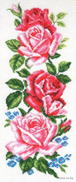 """Канва с нанесенным рисунком """"Нежные розы"""""""