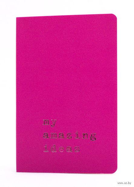"""Записная книжка Молескин """"Volant. My Amazing Ideas"""" в линейку (карманная; мягкая темно-розовая обложка)"""