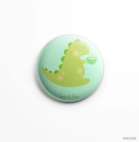 "Значок ""Tea Rex"" (арт. 432) — фото, картинка"