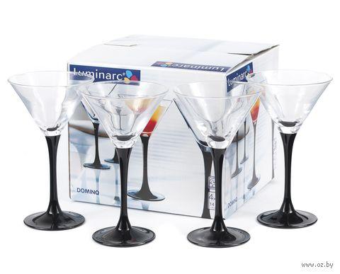 """Бокал для мартини стеклянный """"Domino Noir"""" (4 шт.; 140 мл) — фото, картинка"""