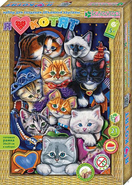 """Картина-аппликация """"Я люблю котят"""" — фото, картинка"""