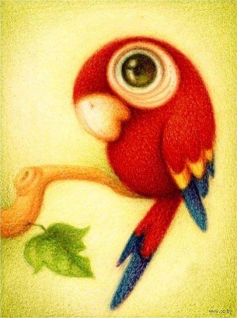 """Алмазная вышивка-мозаика """"Красный попугай"""" (250х300 мм) — фото, картинка"""