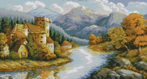 """Алмазная вышивка-мозаика """"Замок у гор"""""""