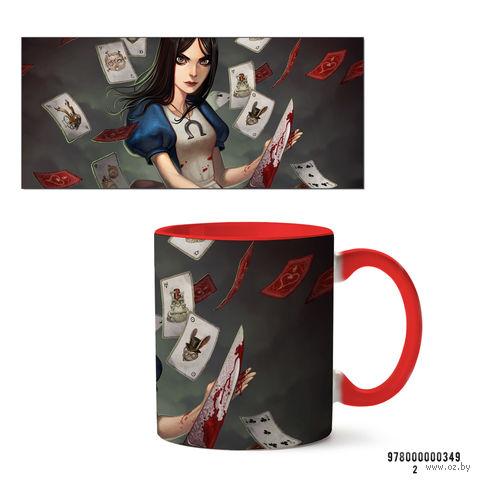 """Кружка """"Алиса"""" (349, красная)"""