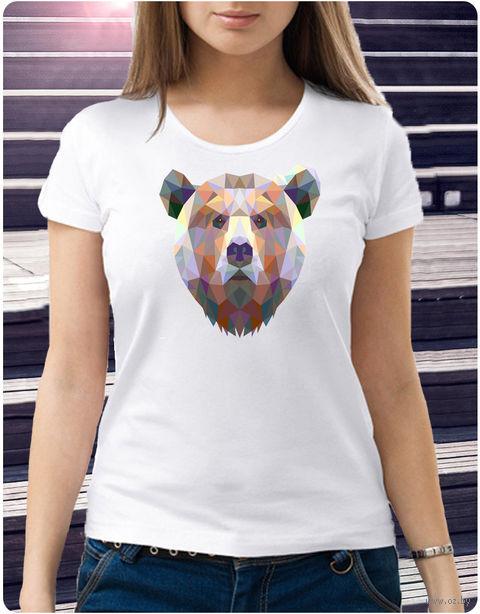 "Футболка женская ""Медведь"" (размер 44; арт. 59) — фото, картинка"