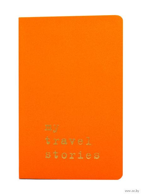 """Записная книжка Молескин """"Volant. My Travel Stories"""" в линейку (карманная; мягкая оранжевая обложка)"""