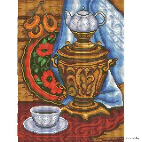 """Алмазная вышивка-мозаика """"Русское чаепитие"""" (400х300 мм) — фото, картинка"""