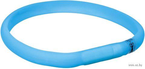 Ошейник светящийся (размер L-XL; 70 см/17 мм; синий) — фото, картинка