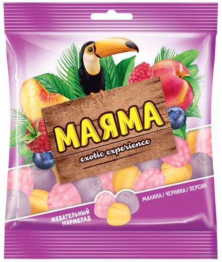 """Мармелад """"Маяма. Малина, черника и персик"""" (70 г) — фото, картинка"""