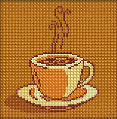 "Алмазная вышивка-мозаика ""Ваш кофе"" (200х200 мм) — фото, картинка"
