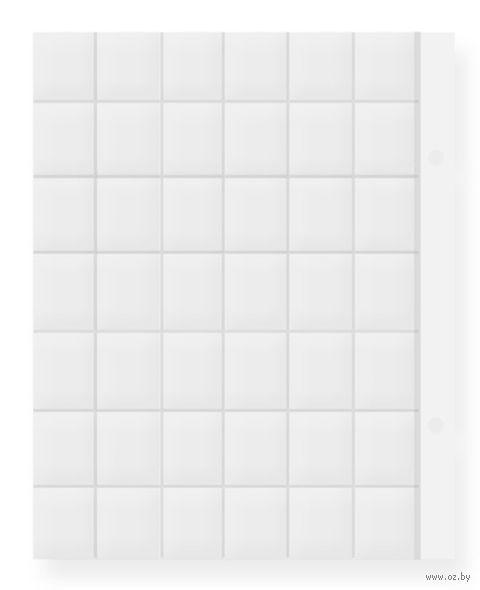 Лист для монет (35 ячеек; 20x25 см)