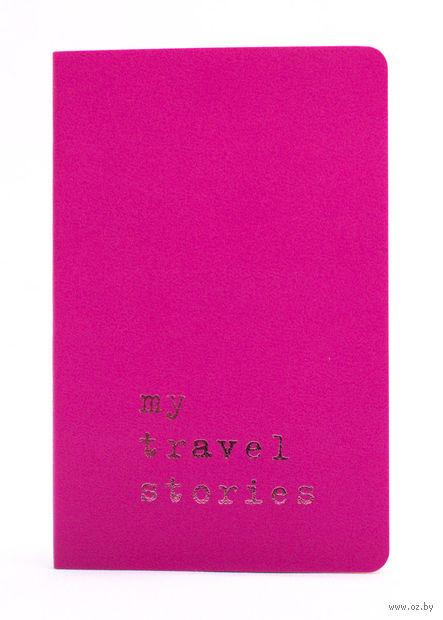 """Записная книжка Молескин """"Volant. My Travel Stories"""" в линейку (карманная; мягкая темно-розовая обложка)"""