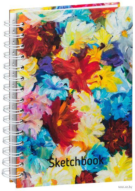 """Скетчбук """"Цветы"""" (А5) — фото, картинка"""