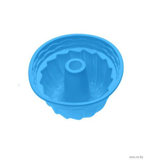 """Форма для выпекания силиконовая """"Кекс"""" (240х105 мм; голубая) — фото, картинка"""