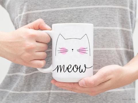 "Кружка ""Meow"" (арт. 293) — фото, картинка"