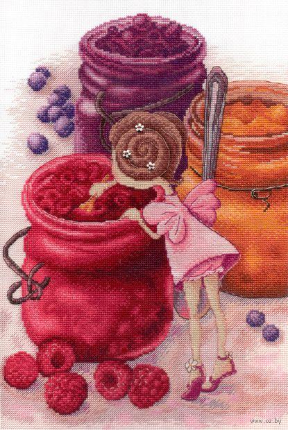 """Вышивка крестом """"Фея ягодного варенья"""" (300х200 мм) — фото, картинка"""
