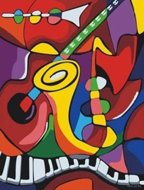 "Алмазная вышивка-мозаика ""Цвета музыки"" (400х500 мм) — фото, картинка"