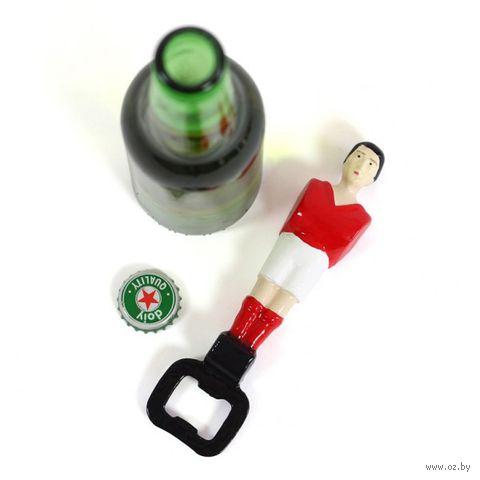 """Открывалка для бутылок """"Football"""" (красная)"""