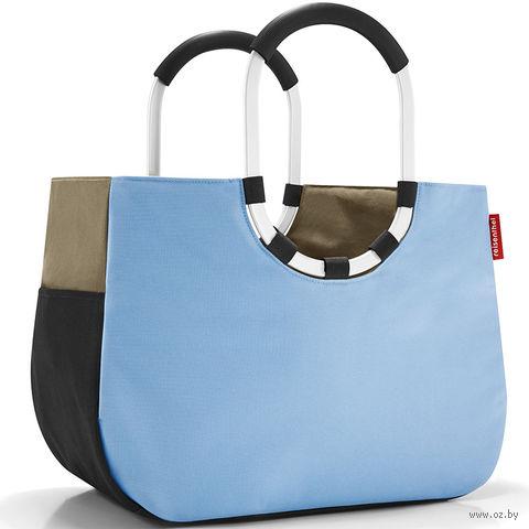 "Сумка ""Loopshopper"" (L, patchwork pastel blue)"