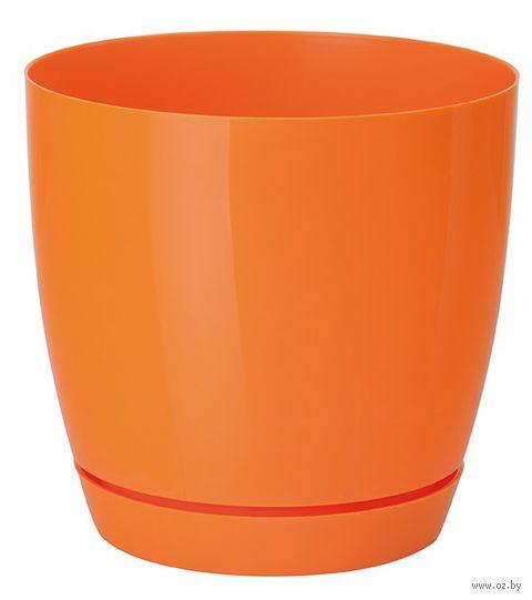 """Цветочный горшок """"Тоскана"""" (13 см; оранжевый) — фото, картинка"""