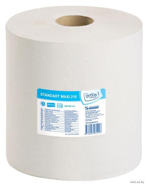 """Бумажные полотенца """"Standart MAXI 210"""" (1 рулон; белый) — фото, картинка"""