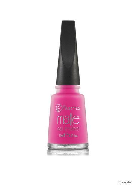 """Лак для ногтей """"Matte Nail Enamel"""" (тон: 17, neon pink) — фото, картинка"""