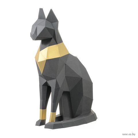 """3D-конструктор """"Кошка Бастет"""" (серый) — фото, картинка"""