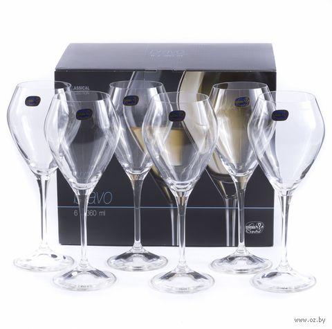 """Бокал для вина стеклянный """"Bravo"""" (6 шт.; 360 мл) — фото, картинка"""