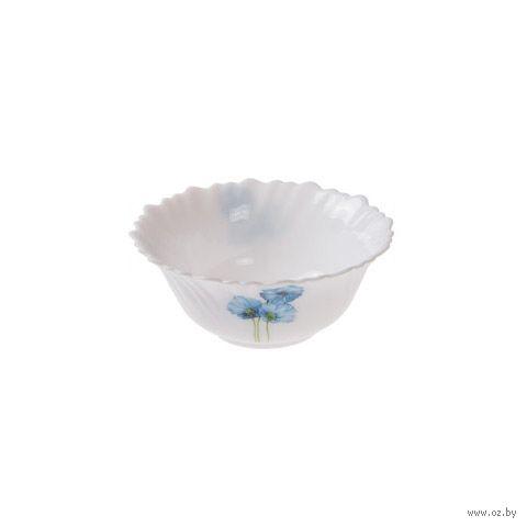 "Салатник стеклокерамический ""Синий мак"" (125 мм) — фото, картинка"