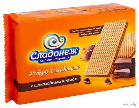"""Вафли """"Ретро-Сладонеж. С шоколадным кремом"""" (300 г) — фото, картинка"""
