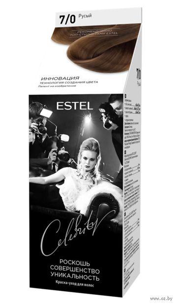 """Краска-уход для волос """"Estel Celebrity"""" (тон: 7.0, русый) — фото, картинка"""