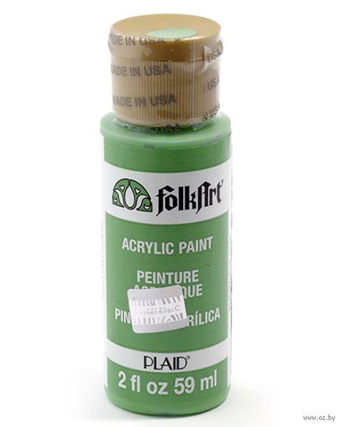 "Краска акриловая ""FolkArt. Acrylic Paint"" (зеленая; 59 мл; арт. PLD-00408) — фото, картинка"