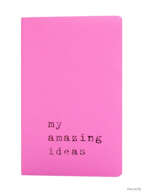 """Записная книжка Молескин """"Volant. My Amazing Ideas"""" в линейку (карманная; мягкая светло-розовая обложка)"""