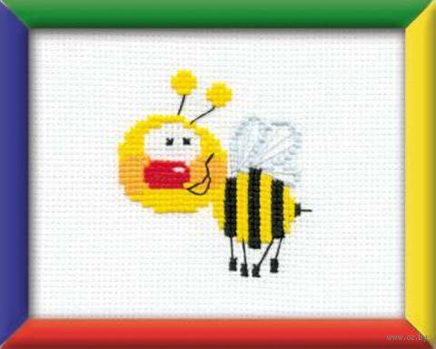 "Вышивка крестом ""Пчелка"" (160х130 мм) — фото, картинка"